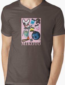 Mikoto Collage Mens V-Neck T-Shirt