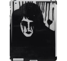 Ink on glass Depressed woman  iPad Case/Skin