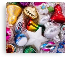 Set of christmas decorations Canvas Print