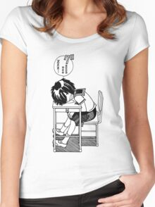 Nazo no Kanojo X (Mysterious Girlfriend X) Sleeping Urabe Women's Fitted Scoop T-Shirt