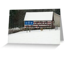 A Barn For All Seasons Greeting Card