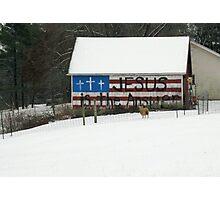 A Barn For All Seasons Photographic Print