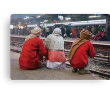 Delhi trainstation Canvas Print