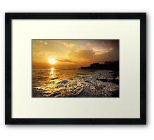 Sunset In Bali Framed Print