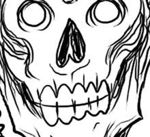Zombie Skull Head Sticker