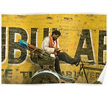 bicycle taxi, Varanasi Poster