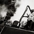 The train to Ooty Hill Station,India 2005.(Nikon FM2,Tri-X). by Neil Bussey