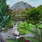Costa Rica , Ariel Volcano, mountain river view by Jerry Clitty