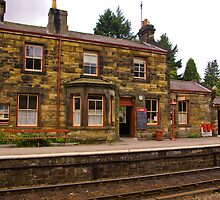 Booking Office - Goathland Station. by Trevor Kersley