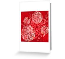 The Red Garden Greeting Card