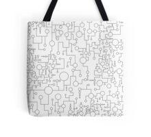 Abstract Circles and Lines Tote Bag