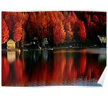 Autumn Sunrise on the Lake  Poster