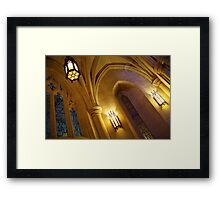Lights in a Cathedral Framed Print