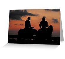 Last Look ~ Statue of Joseph & Hyrum Smith ~ Nauvoo, Illinois Greeting Card