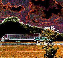 Trucking in Autumn by Daneann
