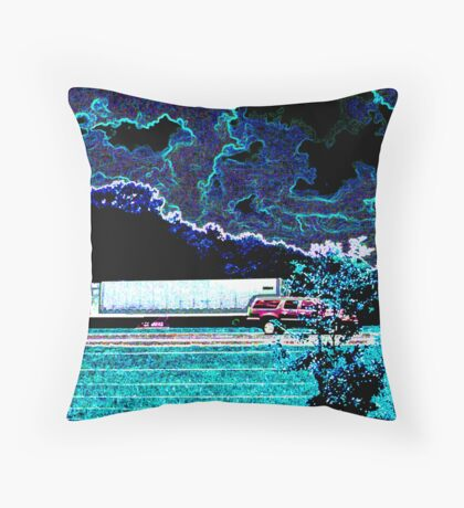 Trucking in Coolness Throw Pillow