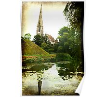 Steeple Reflections Poster