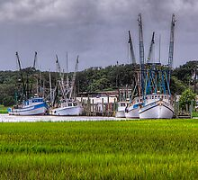 Bubba Gump Shrimp Boats by Ray Mosteller