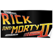 Rick and Morty Season 2 - BTTF Logo Poster