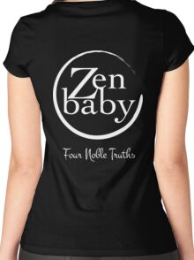 Zen Baby the four noble truths Women's Fitted Scoop T-Shirt