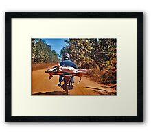 Heavy transport Framed Print