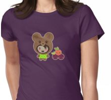 Faux Bear Without a Picnic Basket Womens Fitted T-Shirt