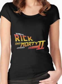Rick and Morty Season 2 - BTTF Logo Women's Fitted Scoop T-Shirt