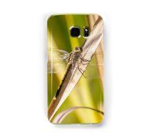 Blue Skimmer Dragonfly on Reeds Samsung Galaxy Case/Skin
