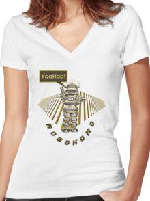 RoboHomo Women's Fitted V-Neck T-Shirt