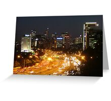 City Rush Hour Greeting Card