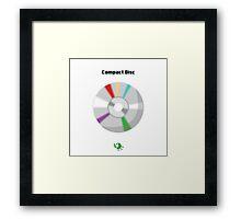 Compact Disc Framed Print