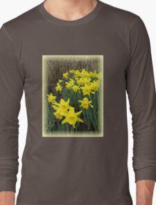 Easter Daffodils Vignette Long Sleeve T-Shirt
