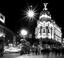 October night in Madrid  by tintinvb