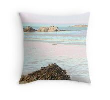 rocks and sea weed Throw Pillow