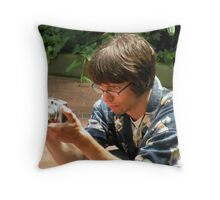 intensely focused... 'portrait of the artist as a young man' Throw Pillow