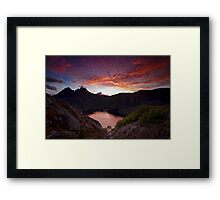Fiery Cradle Mountain Framed Print