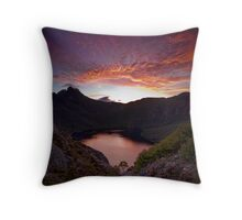 Fiery Cradle Mountain Throw Pillow