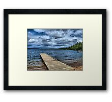 stormy view Framed Print