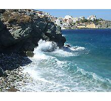 Water vs. Stone Photographic Print