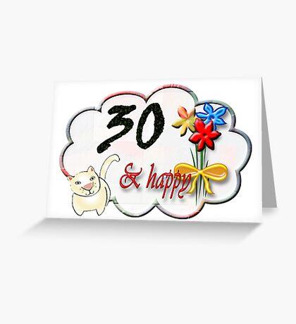 30 Greeting Card