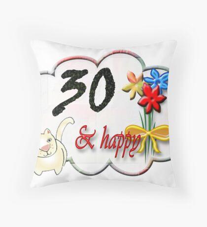 30 Throw Pillow