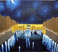Il Ponte Vecchio Alla Notte by AngryGoldfish