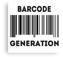 Barcode Generation Canvas Print
