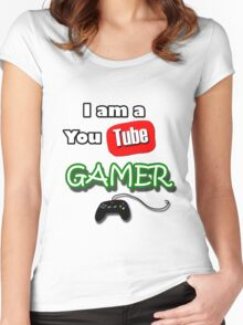 I am a YouTube GAMER Women's Fitted Scoop T-Shirt