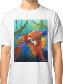 """Scarlet Macaw's"" Parrotopia series 1 Classic T-Shirt"