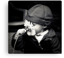 ...don't forget to smell the flowers... Canvas Print