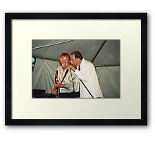 Donnie Walsh and Chuck Jackson, Downchild Blues Band Framed Print