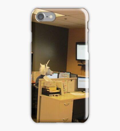 Unicorn in a cubicle #1 - the death of magic iPhone Case/Skin