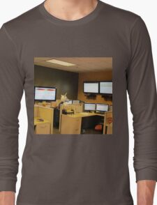 Unicorn in a cubicle #1 - the death of magic Long Sleeve T-Shirt