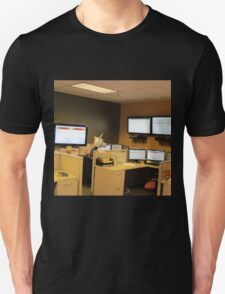 Unicorn in a cubicle #1 - the death of magic Unisex T-Shirt